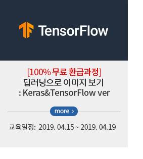 [100% 무료 환급 과정] 딥러닝으로 이미지 보기 : Keras &TensorFlow ver
